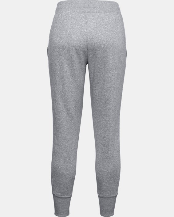 Women's UA Rival Fleece EMB Pants, Gray, pdpMainDesktop image number 5