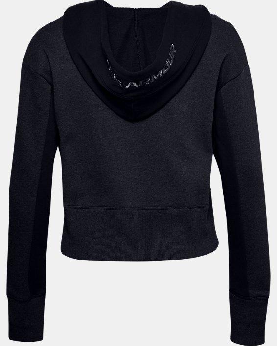 Women's UA Rival Fleece Embroidered Hoodie, Black, pdpMainDesktop image number 4