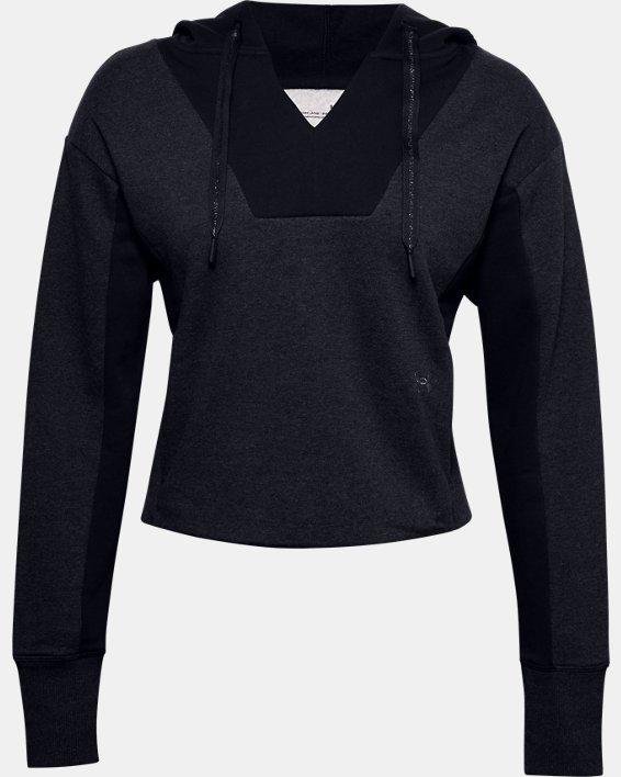 Women's UA Rival Fleece Embroidered Hoodie, Black, pdpMainDesktop image number 3