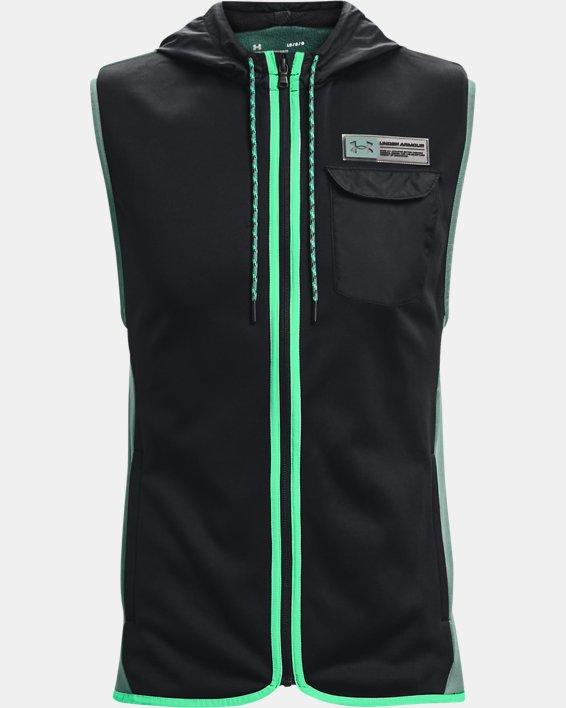 Men's Armour Fleece® Storm Hooded Vest, Black, pdpMainDesktop image number 5