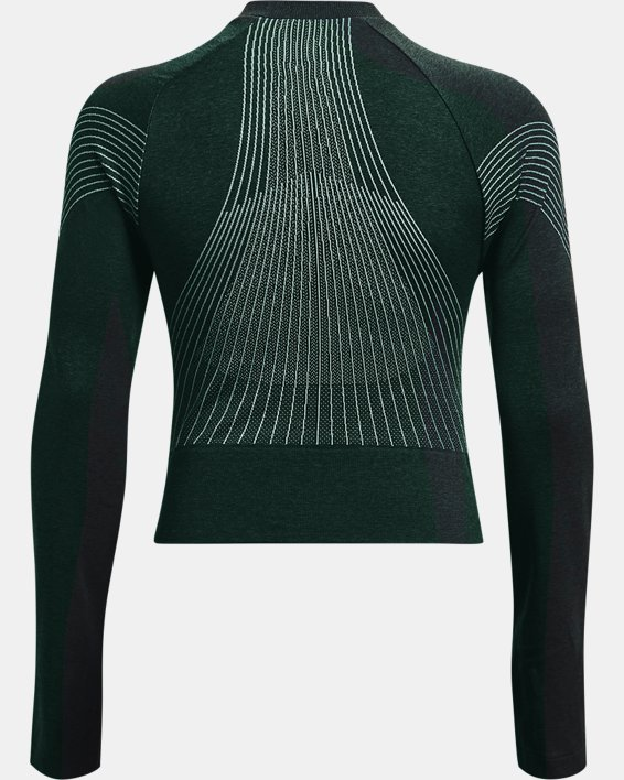 Women's UA RUSH™ Seamless Long Sleeve, Green, pdpMainDesktop image number 5