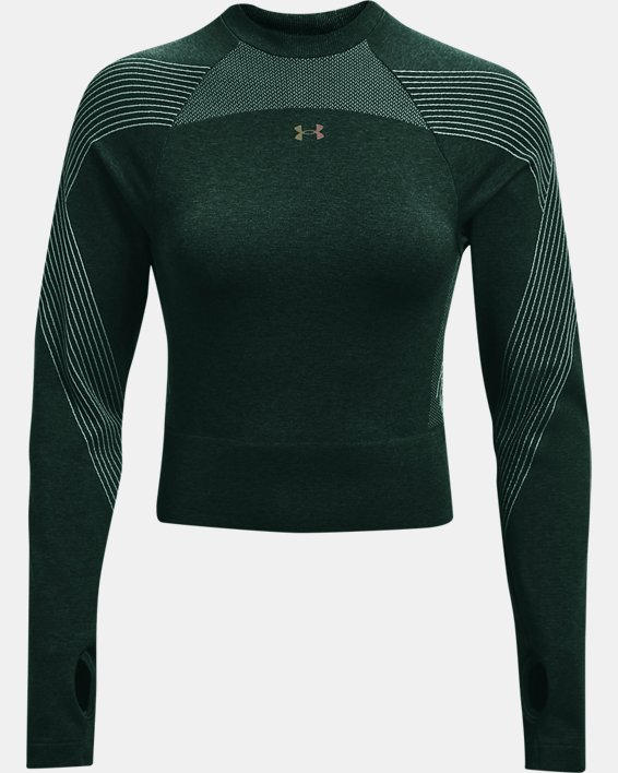 Women's UA RUSH™ Seamless Long Sleeve, Green, pdpMainDesktop image number 4