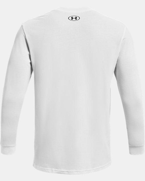Camiseta de manga larga UA Sportstyle Logo para hombre, White, pdpMainDesktop image number 4