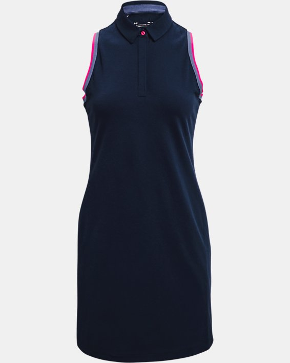 Women's UA Zinger Pique Dress, Navy, pdpMainDesktop image number 3