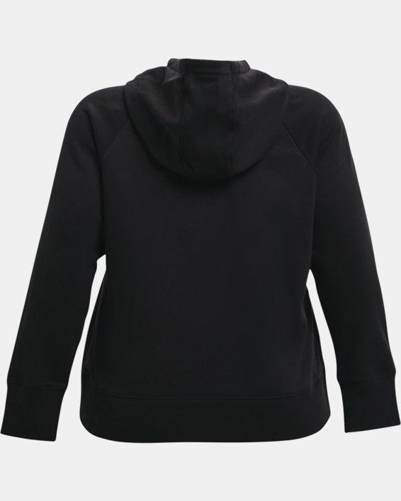 Women's UA Rival Fleece Logo Hoodie, Black, pdpMainDesktop image number 5