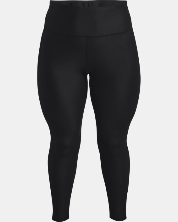 Women's HeatGear® Armour No-Slip Waistband Full-Length Leggings, Black, pdpMainDesktop image number 4