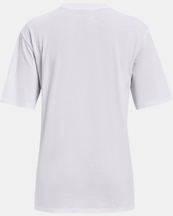 Women's UA Graphic Oversized Short Sleeve, White, pdpMainDesktop image number 5