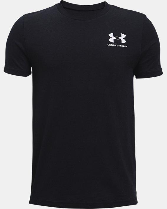 Boys' UA Sportstyle Left Chest Short Sleeve, Black, pdpMainDesktop image number 0