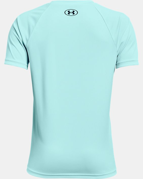 Camiseta de manga corta UA Tech™ Hybrid Print Fill para niño, Blue, pdpMainDesktop image number 1