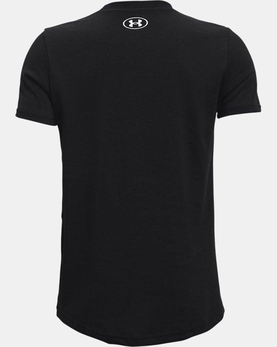 Boys' UA Sportstyle Logo Short Sleeve, Black, pdpMainDesktop image number 1