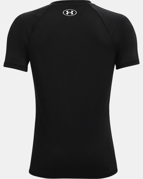 Boys' UA Tech™ Big Logo Short Sleeve, Black, pdpMainDesktop image number 1