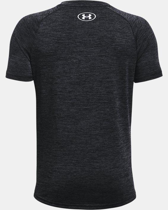 Boys' UA Tech™ 2.0 Short Sleeve, Black, pdpMainDesktop image number 1