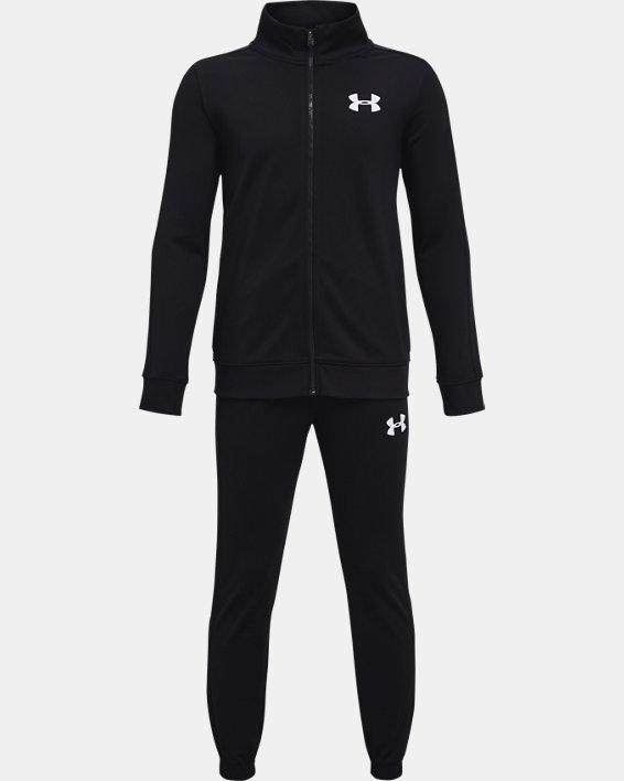 Boys' UA Knit Track Suit, Black, pdpMainDesktop image number 0