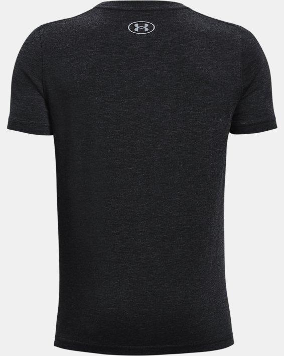 Boys' UA Cotton Short Sleeve, Black, pdpMainDesktop image number 1