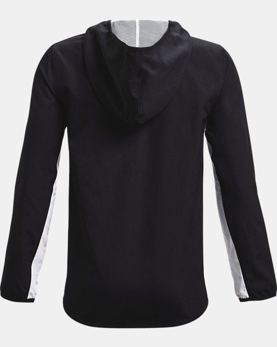 Boys' UA Woven Track Jacket, Black, pdpMainDesktop image number 1