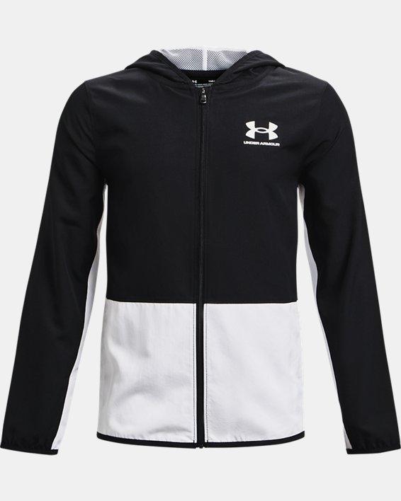 Boys' UA Woven Track Jacket, Black, pdpMainDesktop image number 0