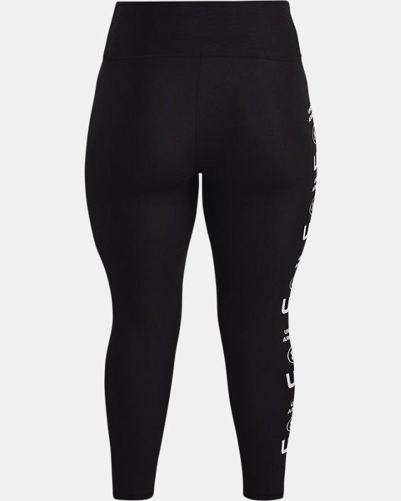 Leggings HeatGear® Armour No-Slip Waistband Graphic Ankle para mujer, Black, pdpMainDesktop image number 4