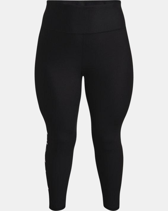 Leggings HeatGear® Armour No-Slip Waistband Graphic Ankle para mujer, Black, pdpMainDesktop image number 3