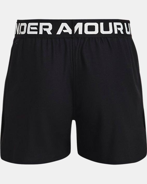 Girls' UA Play Up Shorts, Black, pdpMainDesktop image number 1