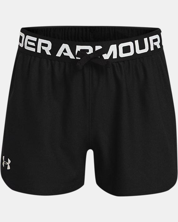 Girls' UA Play Up Shorts, Black, pdpMainDesktop image number 0