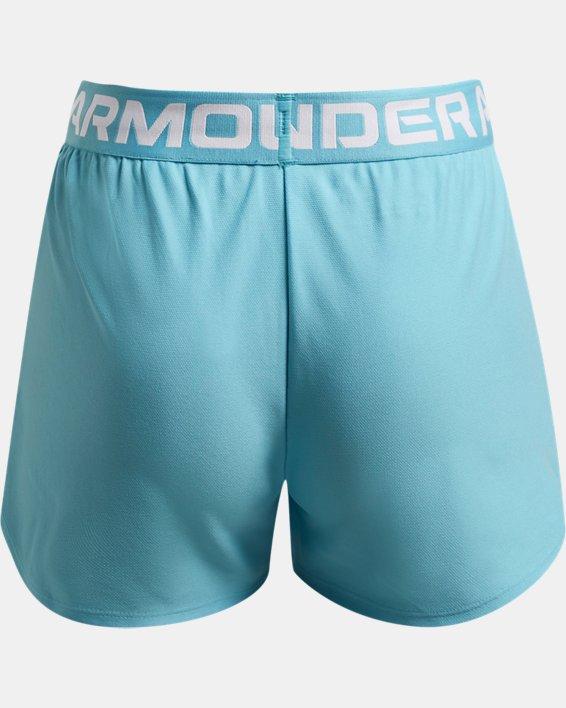 Girls' UA Play Up Shorts, Blue, pdpMainDesktop image number 1