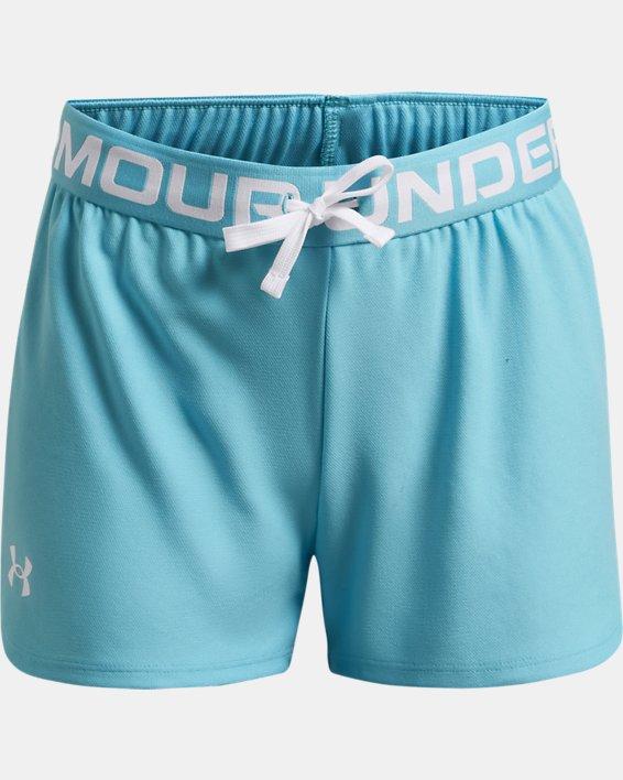 Girls' UA Play Up Shorts, Blue, pdpMainDesktop image number 0