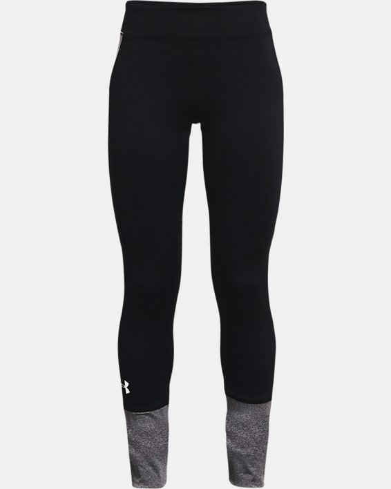 Girls' ColdGear® Leggings, Black, pdpMainDesktop image number 0