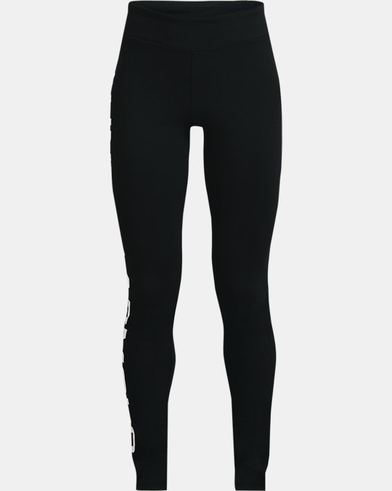Girls' UA Sportstyle Branded Leggings, Black, pdpMainDesktop image number 0