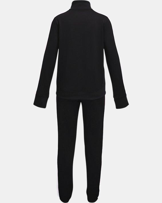 Girls' UA Knit Track Suit, Black, pdpMainDesktop image number 1