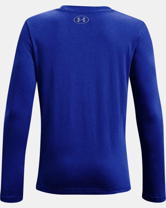 Boys' UA Sport Logo Graphic Long Sleeve, Blue, pdpMainDesktop image number 1