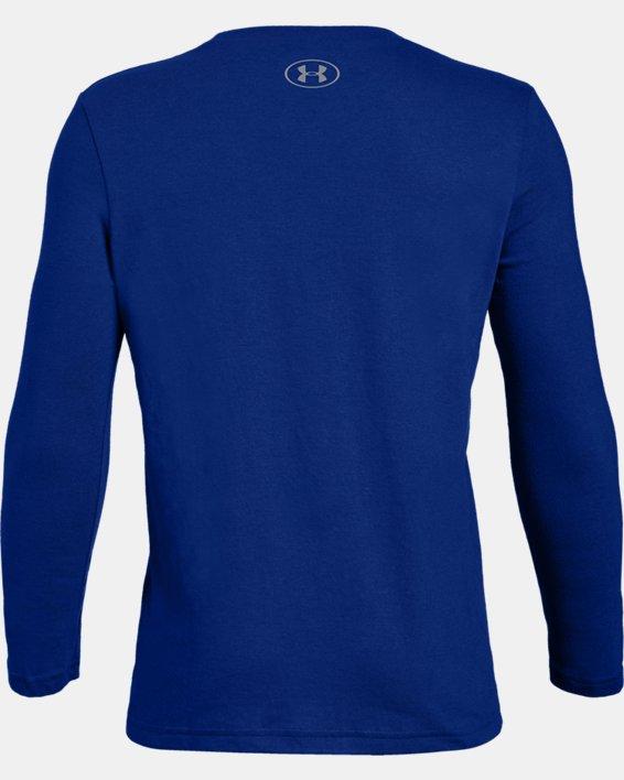 Bpys' UA Camo Big Logo Lockup Long Sleeve, Blue, pdpMainDesktop image number 1