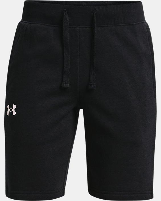 Boys' UA Rival Cotton Shorts, Black, pdpMainDesktop image number 0