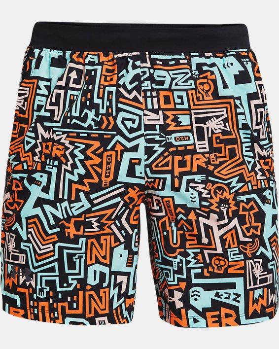 "Men's UA Launch 7"" GRD Shorts, Black, pdpMainDesktop image number 4"