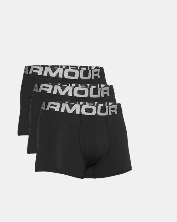 "Men's Charged Cotton® 3"" Boxerjock® – 3-Pack, Black, pdpMainDesktop image number 4"