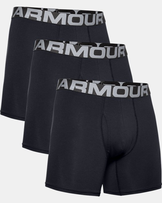 "Men's Charged Cotton® 6"" Boxerjock® – 3-Pack, Black, pdpMainDesktop image number 4"