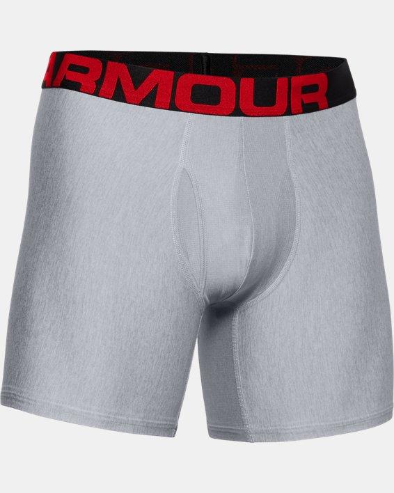 "Men's UA Tech™ 6"" Boxerjock® – 2-Pack, Gray, pdpMainDesktop image number 4"
