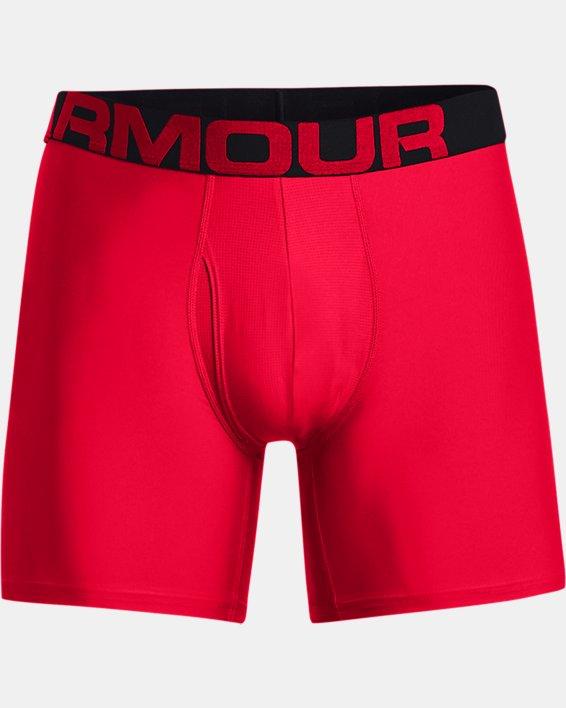 "Men's UA Tech™ 6"" Boxerjock® – 2-Pack, Red, pdpMainDesktop image number 2"