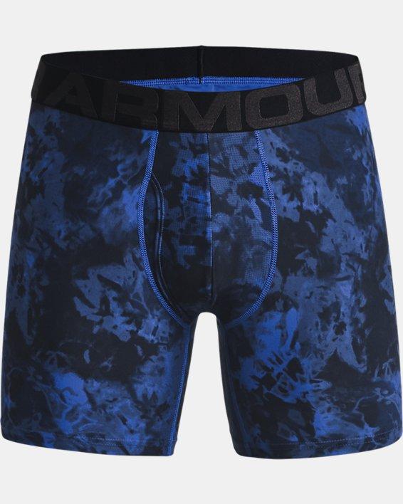 "Men's UA Tech™ 6"" Boxerjock® – 2-Pack, Blue, pdpMainDesktop image number 3"