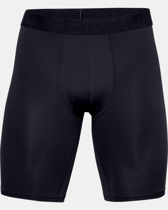 "Men's UA Tech™ Mesh 9"" Boxerjock® – 2-Pack, Black, pdpMainDesktop image number 3"