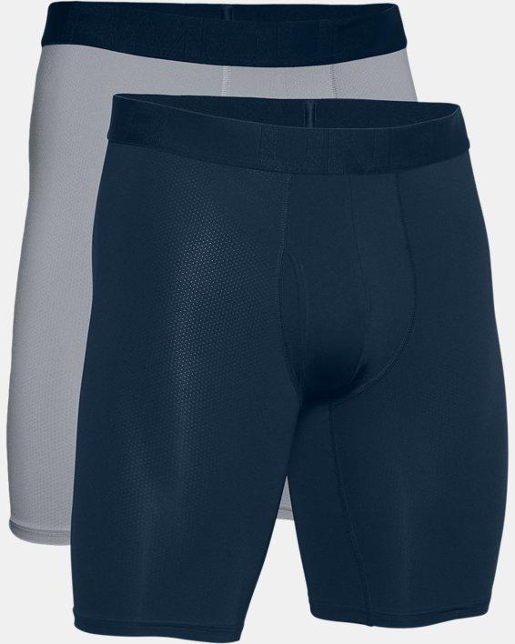 "Men's UA Tech™ Mesh 9"" Boxerjock® – 2-Pack, Navy, pdpMainDesktop image number 4"