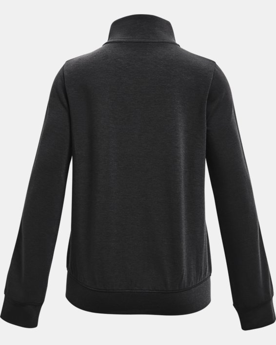 Girls' UA Rival Terry Taped Full Zip, Black, pdpMainDesktop image number 1