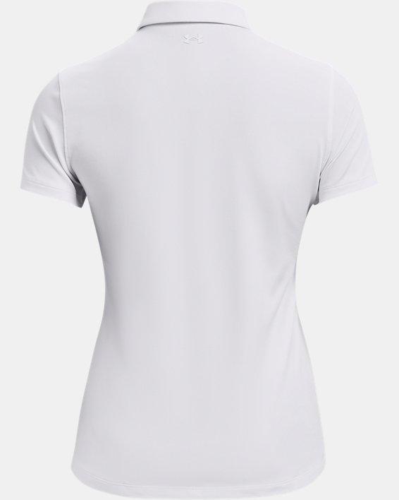 Women's UA Zinger Short Sleeve Polo, White, pdpMainDesktop image number 5