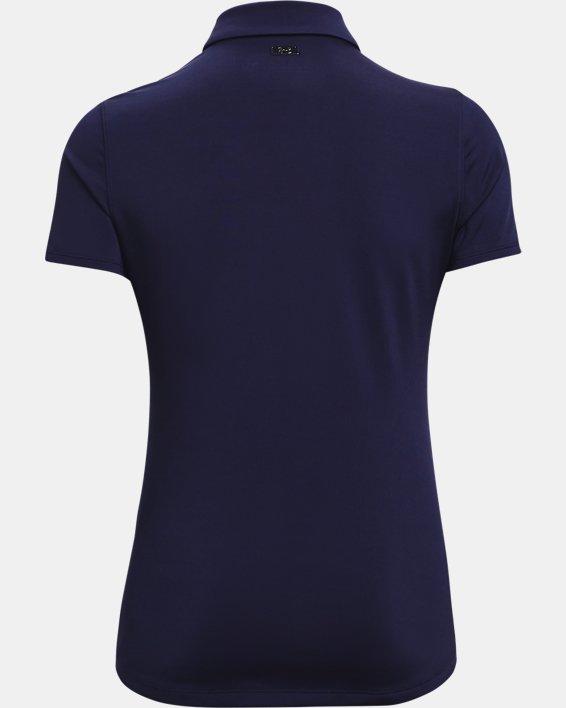 Women's UA Zinger Short Sleeve Polo, Navy, pdpMainDesktop image number 4