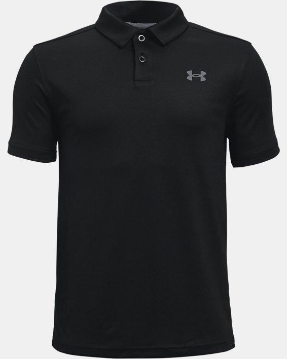 Boys' UA Performance Polo, Black, pdpMainDesktop image number 0