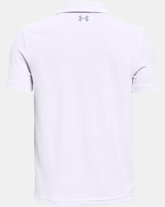 Jungen Poloshirt UA Performance, White, pdpMainDesktop image number 1