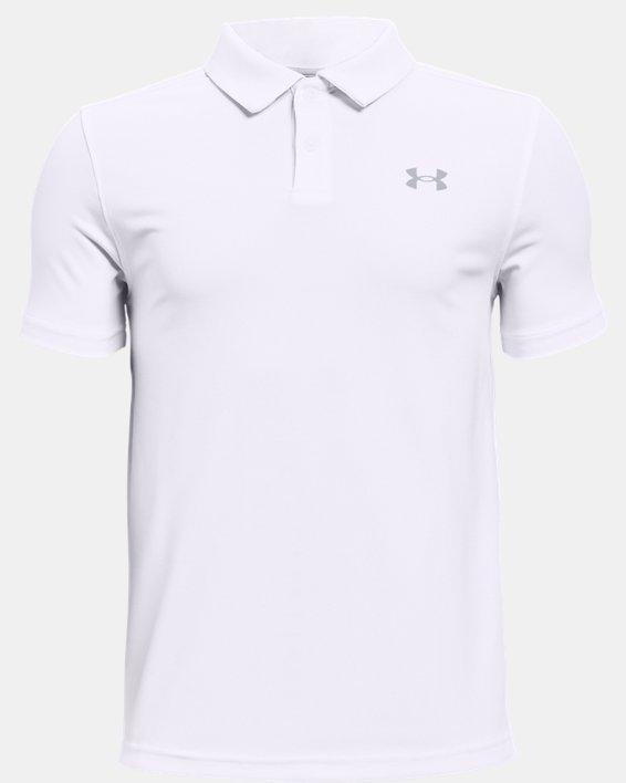 Jungen Poloshirt UA Performance, White, pdpMainDesktop image number 0