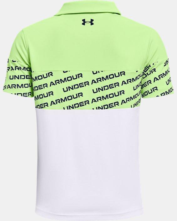 Boys' UA Performance Wordmark Polo, Green, pdpMainDesktop image number 1
