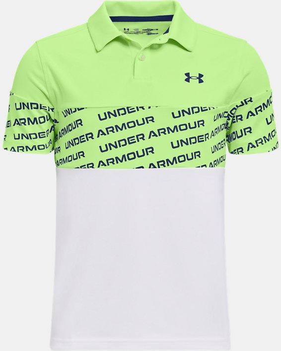Boys' UA Performance Wordmark Polo, Green, pdpMainDesktop image number 0