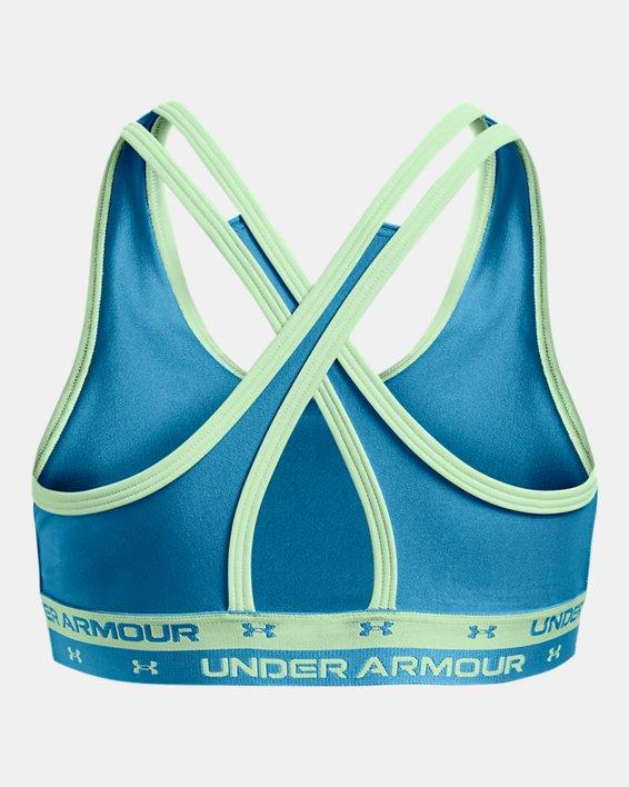Meisjessport-BH UA Crossback, Blue, pdpMainDesktop image number 1