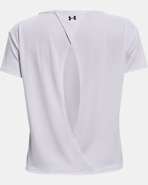 Women's UA Tech™ Vent Short Sleeve, White, pdpMainDesktop image number 5